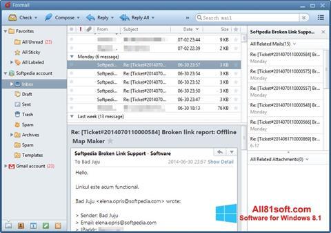 Screenshot FoxMail untuk Windows 8.1