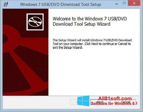 Screenshot Windows 7 USB DVD Download Tool untuk Windows 8.1