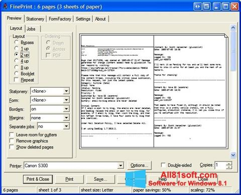 Screenshot FinePrint untuk Windows 8.1