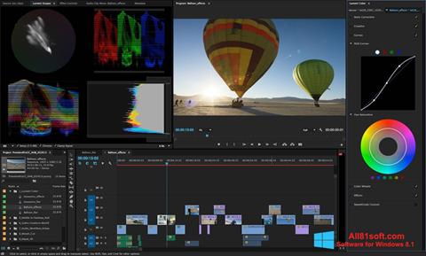 Screenshot Adobe Premiere Pro untuk Windows 8.1
