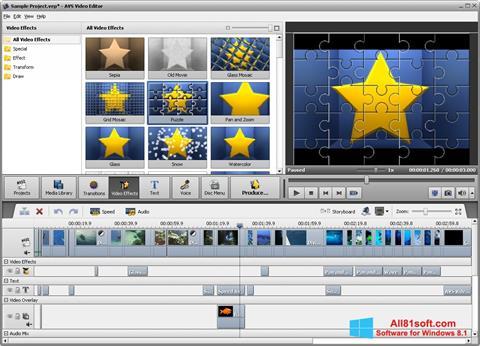 Screenshot AVS Video Editor untuk Windows 8.1