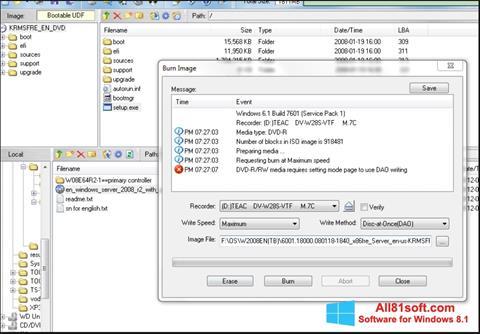 Screenshot UltraISO untuk Windows 8.1