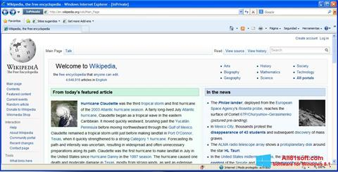 Screenshot Internet Explorer untuk Windows 8.1