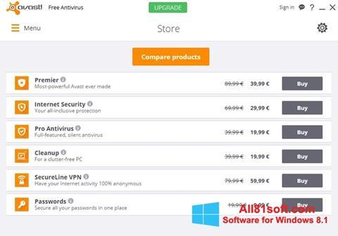 Screenshot Avast Free Antivirus untuk Windows 8.1