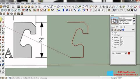 Screenshot SketchUp untuk Windows 8.1