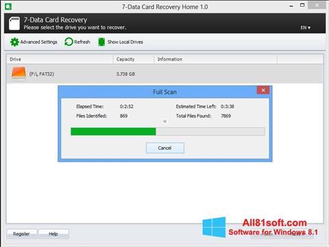 Screenshot CardRecovery untuk Windows 8.1