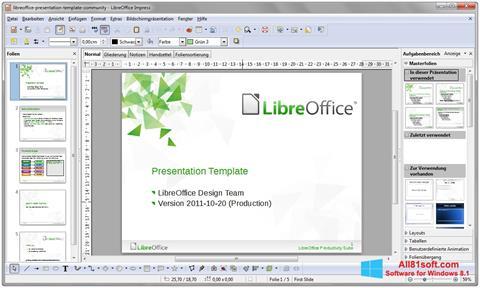 Screenshot LibreOffice untuk Windows 8.1