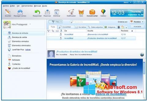 Screenshot IncrediMail untuk Windows 8.1