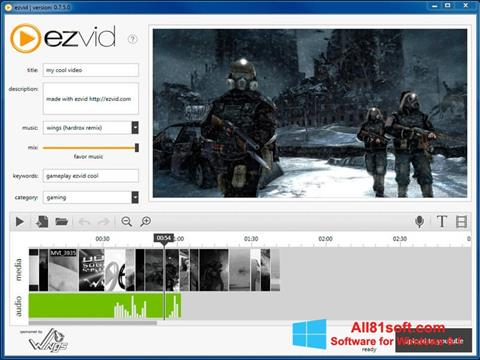 Screenshot Ezvid untuk Windows 8.1