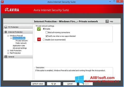 Screenshot Avira Internet Security untuk Windows 8.1