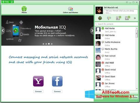 Screenshot ICQ untuk Windows 8.1