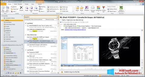 Screenshot Microsoft Outlook untuk Windows 8.1