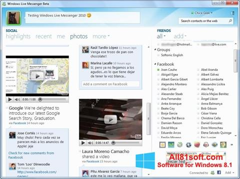 Screenshot Windows Live Messenger untuk Windows 8.1