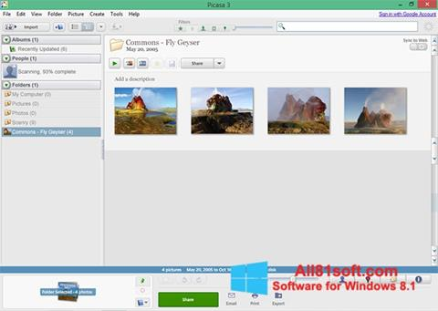Screenshot Picasa untuk Windows 8.1