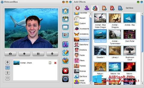 Screenshot WebcamMax untuk Windows 8.1