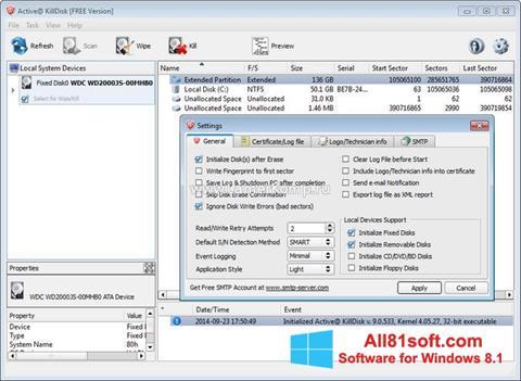 Screenshot Active KillDisk untuk Windows 8.1