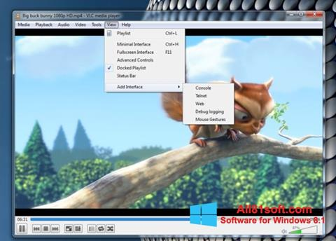 Screenshot VLC Media Player untuk Windows 8.1