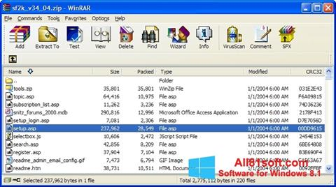 Screenshot WinRAR untuk Windows 8.1