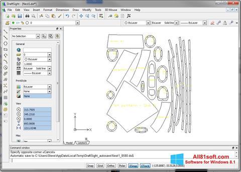 Screenshot DraftSight untuk Windows 8.1