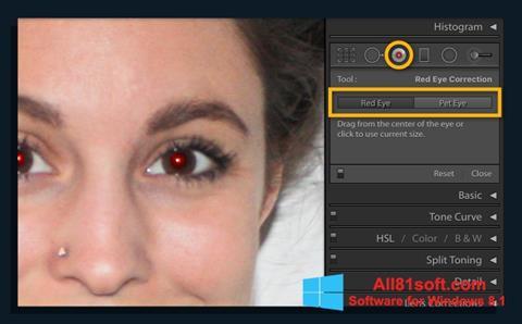 Screenshot Red Eye Remover untuk Windows 8.1