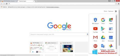 Screenshot Google Chrome untuk Windows 8.1