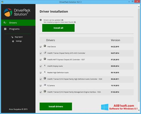 Screenshot DriverPack Solution untuk Windows 8.1