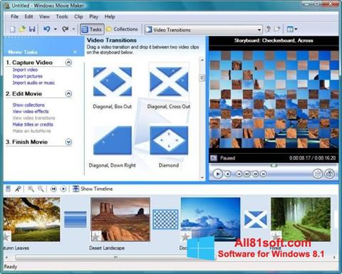 Screenshot Windows Movie Maker untuk Windows 8.1