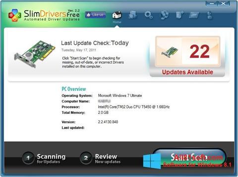 Screenshot SlimDrivers untuk Windows 8.1