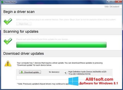 Screenshot Device Doctor untuk Windows 8.1