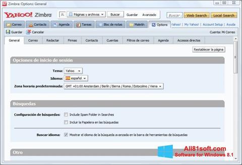 Screenshot Zimbra Desktop untuk Windows 8.1