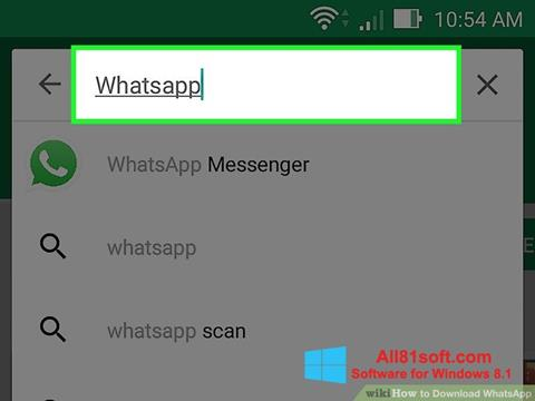 Screenshot WhatsApp untuk Windows 8.1