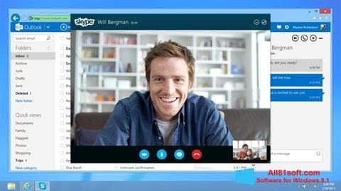 Screenshot Skype untuk Windows 8.1